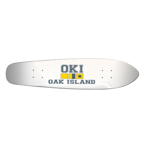 Oak Island. Custom Skateboard