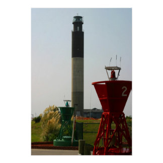 Oak Island Light and Buoys Poster