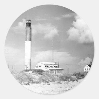Oak Island Lighthouse Classic Round Sticker