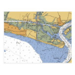 Oak Island, NC Nautical Chart Postcard