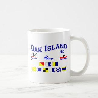 OAK ISLAND NC SIG F LAG COFFEE MUG