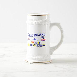 OAK ISLAND NC SIG F LAG MUGS