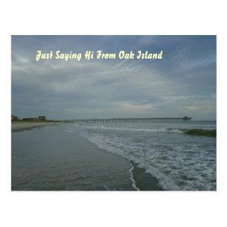 Oak Island Seashores Postcard