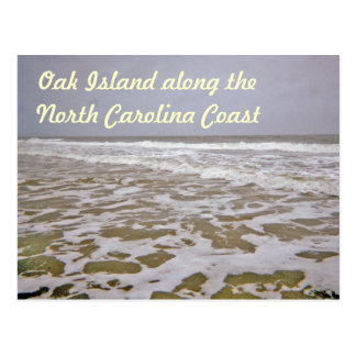 Oak Island Shores Along North Carolina Postcard
