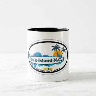 Oak Island. Two-Tone Coffee Mug