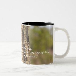 Oak John Muir Quote Two-Tone Coffee Mug