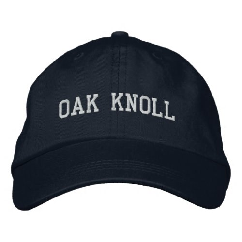 Oak Knoll Embroidered Hat