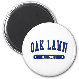 Oak Lawn Illinois College Style tee shirts 2 Inch Round Magnet
