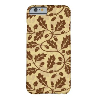 Oak leaf acorn background barely there iPhone 6 case