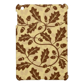 Oak leaf acorn background case for the iPad mini