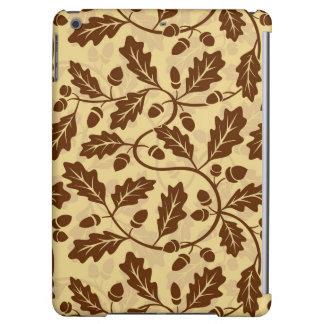 Oak leaf acorn background iPad air case