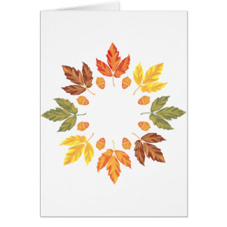 Oak Leaf Circle Greeting Card