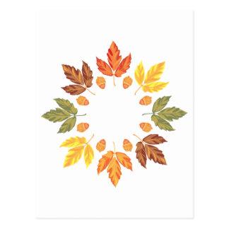 Oak Leaf Circle Postcard