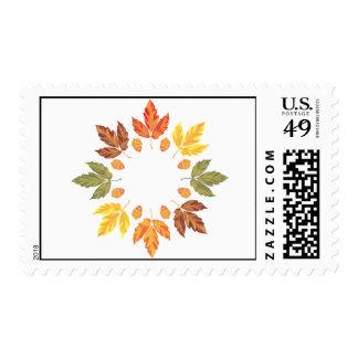 Oak Leaf Circle Stamp