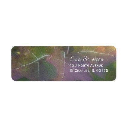 Oak Leaf Hydrangea Return Address Label