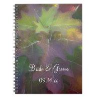 Oak Leaf Hydrangea Wedding Spiral Notebook