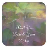 Oak Leaf Hydrangea Wedding Thank You Stickers