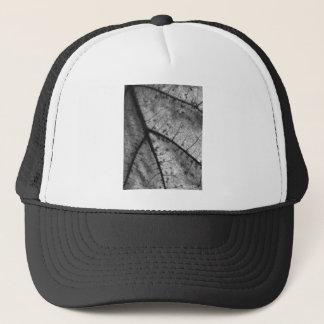 Oak Leaf in Black and White Trucker Hat