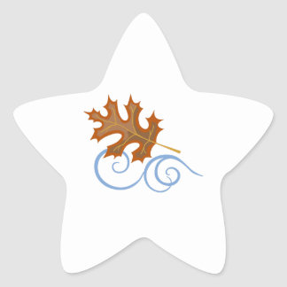 OAK LEAF IN WIND STAR STICKERS