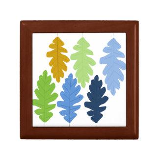 Oak Leaf Keepsake Box