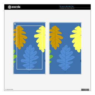 Oak Leaf Kindle Fire Skin