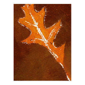 """Oak Leaf Orange and Brown"" Country Roads Postcard"