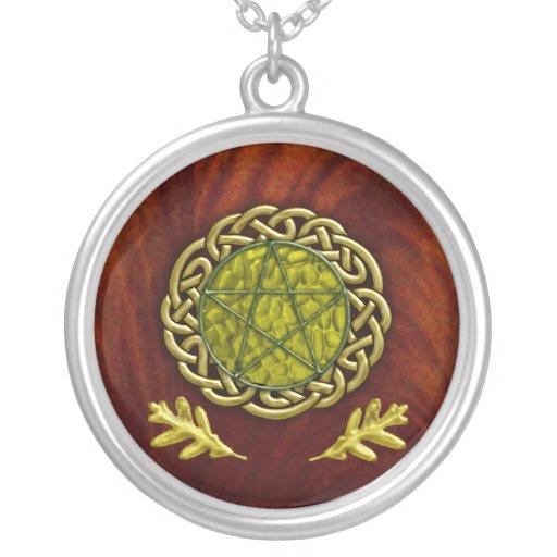 oak leaf pentacle custom necklace