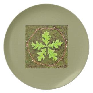 Oak Leaf Pentagram Plate