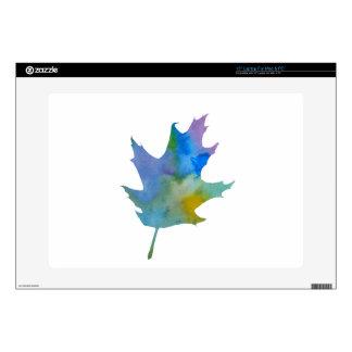 Oak leaf skin for laptop