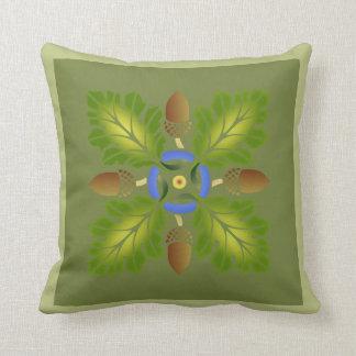 Oak Leaf Stencil Pillow