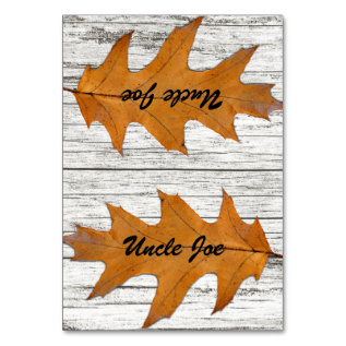 Oak Leaf Wood Name Template Place Cards at Zazzle