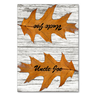 Oak Leaf Wood Name Template Place Cards Table Card