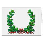 Oak leaf wreath and ribbon cards