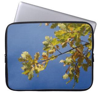Oak Leaves Against a Blue Sky Laptop Sleeve