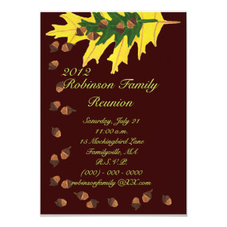 Oak Leaves and Acorns Family Reunion Card