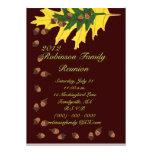 Oak Leaves and Acorns Family Reunion Custom Invite