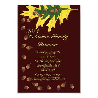 Oak Leaves and Acorns Family Reunion 5x7 Paper Invitation Card
