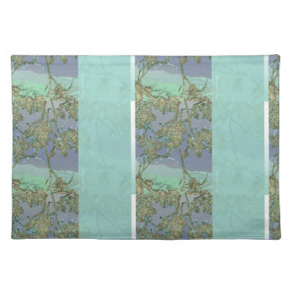Oak Leaves and Hills Cloth Placemat