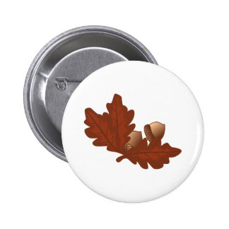 Oak Leaves 2 Inch Round Button