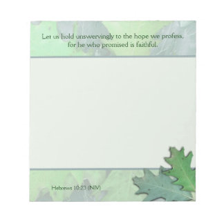 Oak Leaves, Christian Scripture Note Paper Pad