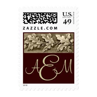 Oak Leaves Classic Postage Stamp