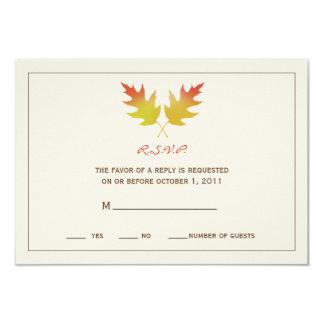 Oak Leaves Fall Wedding R.S.V.P. Card