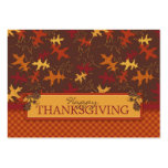 Oak Leaves in Fall Colors for Thanksgiving Business Card Template