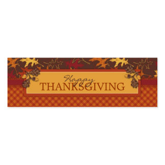 Oak Leaves in Fall Colors for Thanksgiving Double-Sided Mini Business Cards (Pack Of 20)