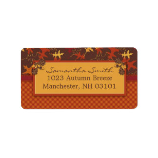 Oak Leaves in Fall Colors for Thanksgiving Labels
