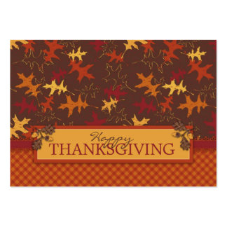 Oak Leaves in Fall Colors for Thanksgiving Large Business Card