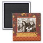Oak Leaves in Fall Colors for Thanksgiving Fridge Magnet