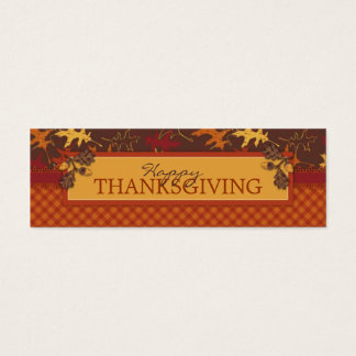Oak Leaves in Fall Colors for Thanksgiving Mini Business Card