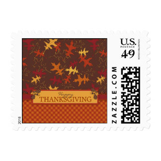 Oak Leaves in Fall Colors for Thanksgiving Postage Stamps