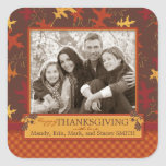 Oak Leaves in Fall Colors for Thanksgiving Sticker